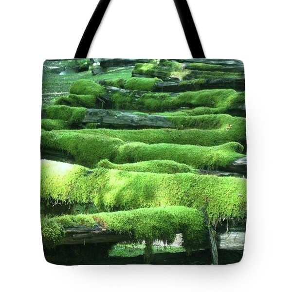 Mossy Fence Tote Bag