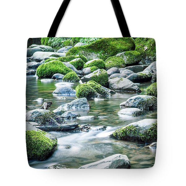 Mossy Forest Stream Tote Bag