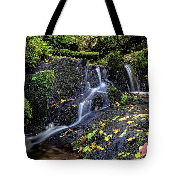 Emerald Cascades Tote Bag