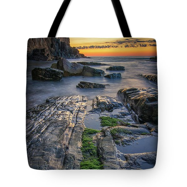 Mossy Rocks At Bald Head Cliff  Tote Bag