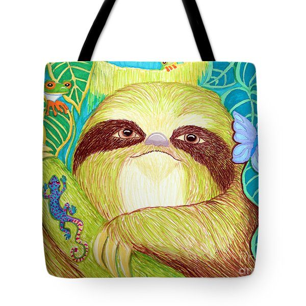 Mossy Sloth Tote Bag by Nick Gustafson