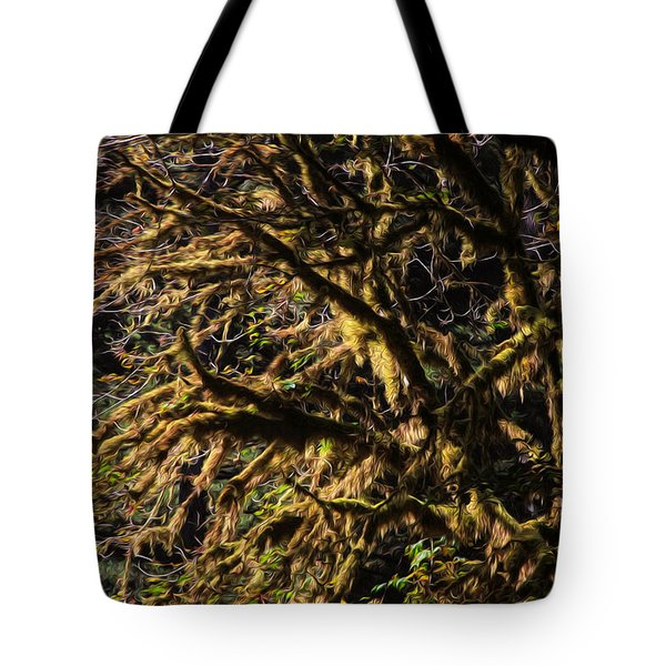 Mossy Trees Tote Bag
