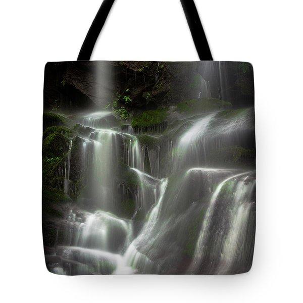 Mossy Waterfall Tote Bag