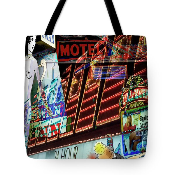Motel Variations 24 Hours Tote Bag by Ann Tracy