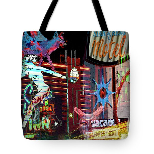 Motel Variations Night Of The Flyng Coyote Tote Bag by Ann Tracy