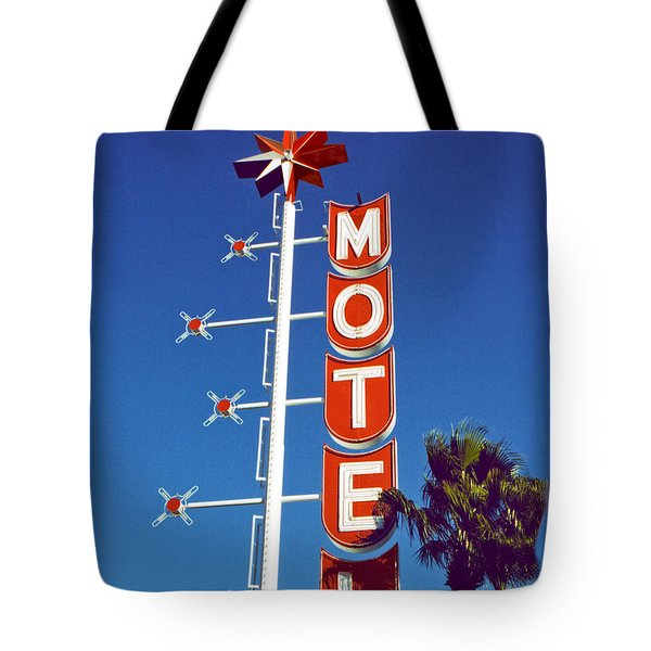 Motel With Stars Tote Bag