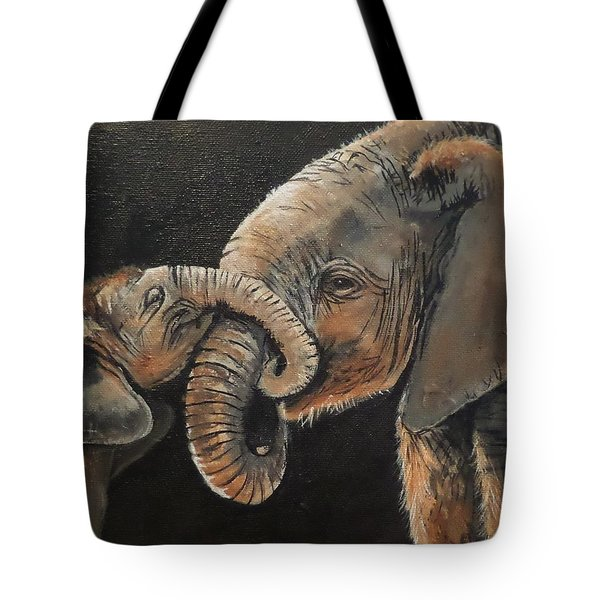 Mother And Baby Tote Bag