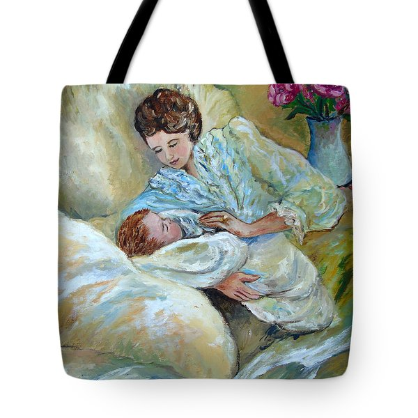 Mother And Child By May Villeneuve Tote Bag