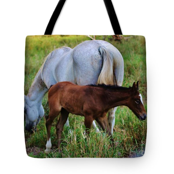Mother And Child Tote Bag by Craig Wood