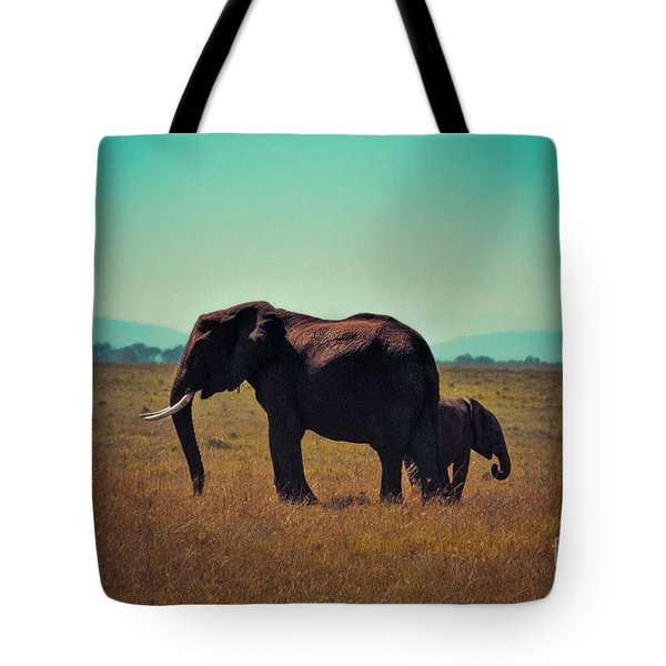 Tote Bag featuring the photograph Mother And Child by Karen Lewis