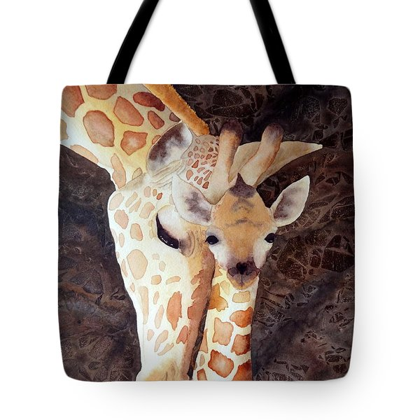 Tote Bag featuring the painting Mother And Child by Laurel Best
