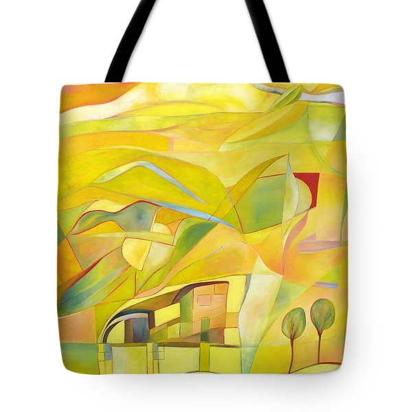 Tote Bag featuring the painting Mother And Child by Linda Cull