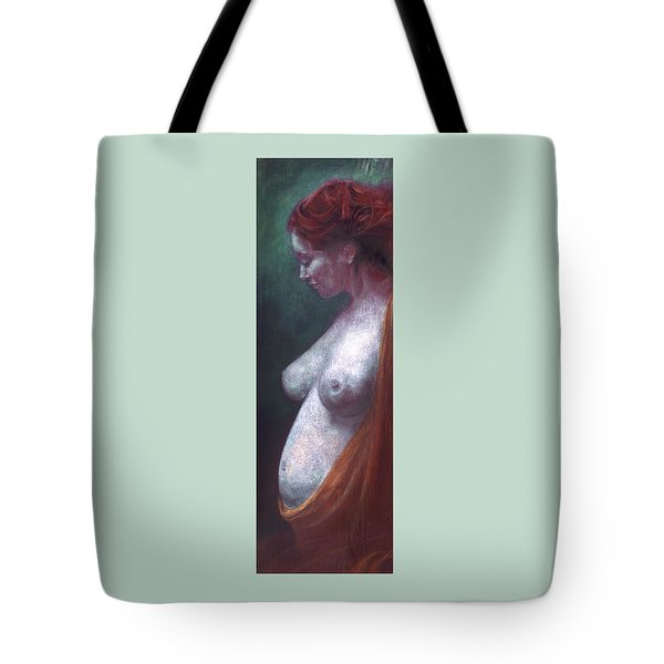 Tote Bag featuring the painting Mother And Child by Ragen Mendenhall