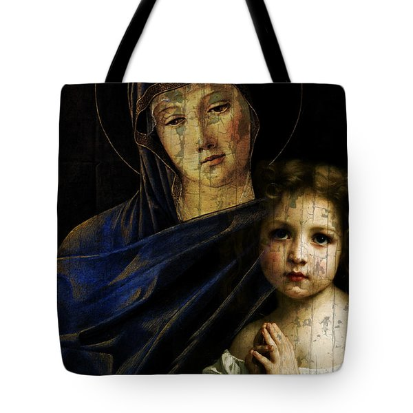 Tote Bag featuring the mixed media Mother And Child Reunion  by Paul Lovering