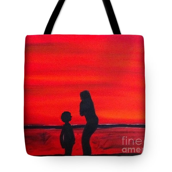 Mother And Child Tote Bag by Rod Jellison