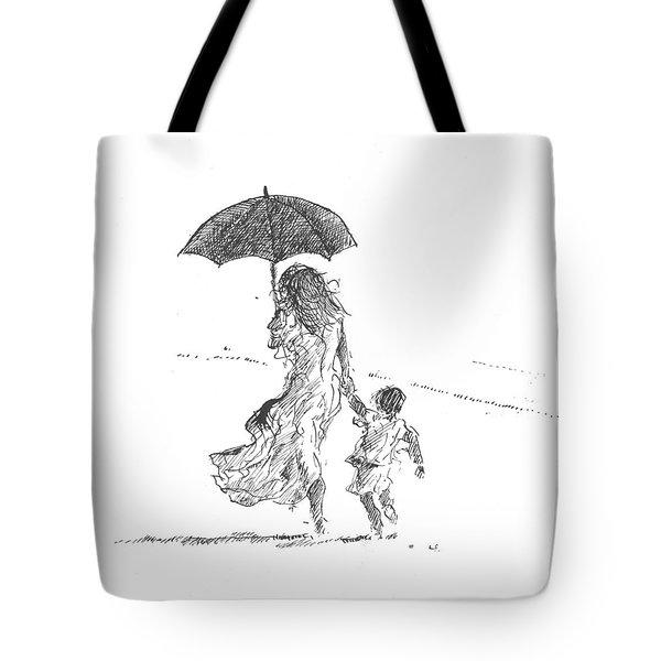 Mother And Child  Sri Lanka Tote Bag