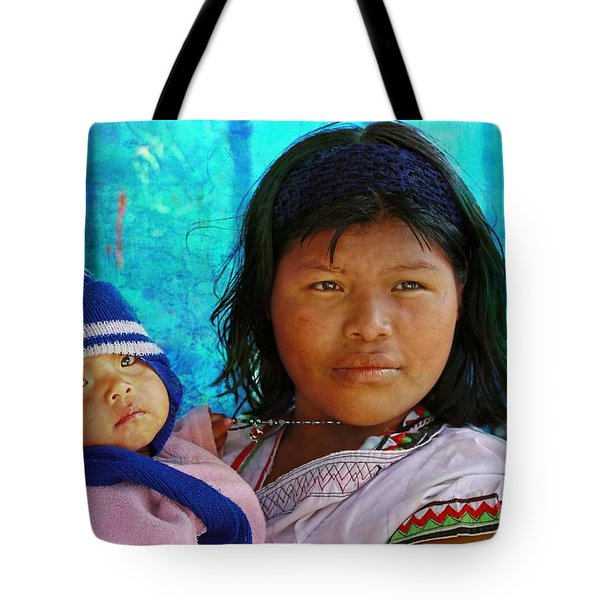 Kuna Yala - Mother And Child Tote Bag