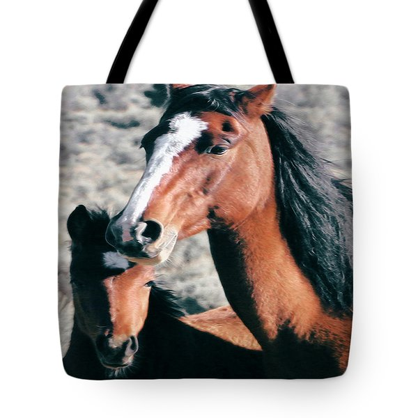 Mother And Colt Wild Tote Bag