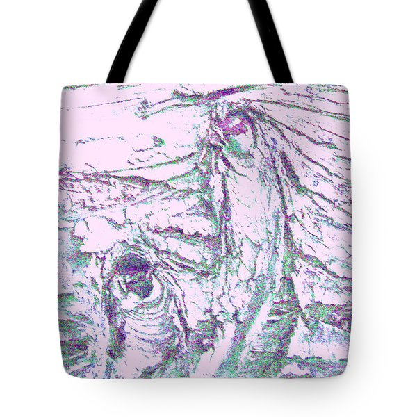 Mother And Daughter Against The Wind Tote Bag by Karl Reid