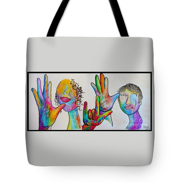 Mother And Father I Love You Tote Bag