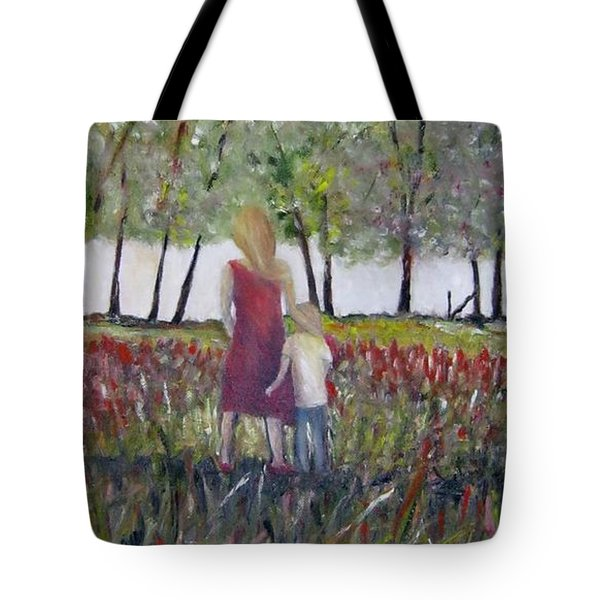 Mother And Son Tote Bag by Marilyn  McNish