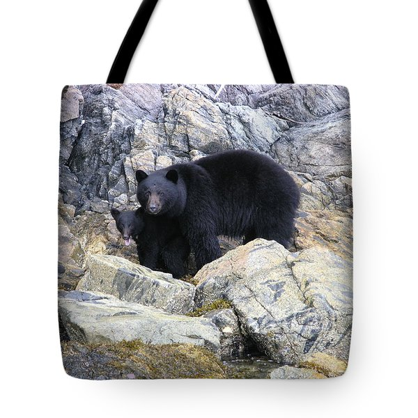 Mother Bear And Her Cub Tote Bag