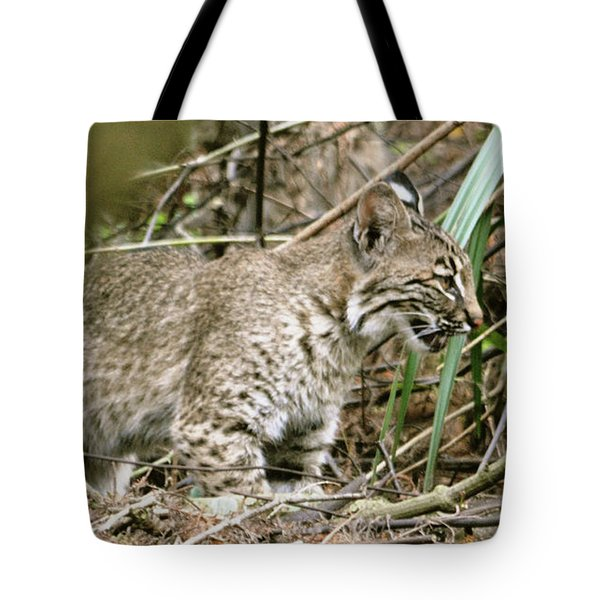 Mother Bobcat Tote Bag