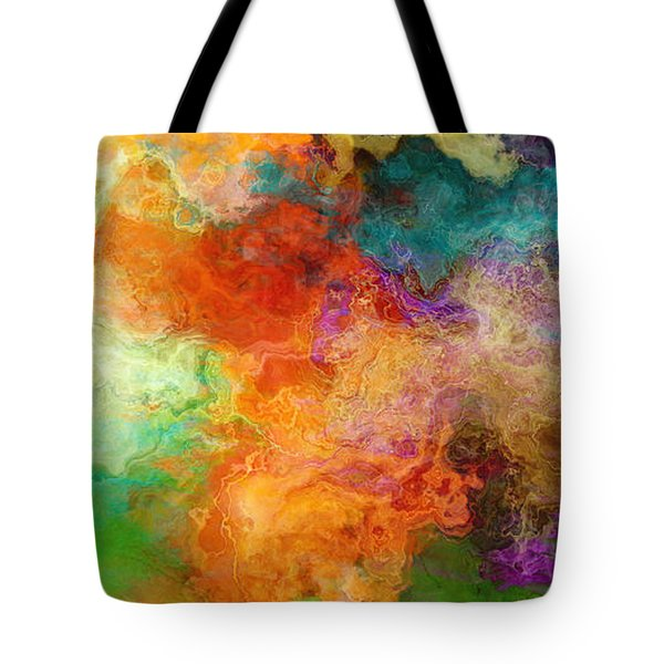 Mother Earth - Abstract Art Tote Bag by Jaison Cianelli