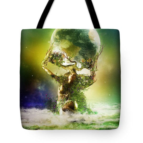Mother Earth Tote Bag by Mary Hood