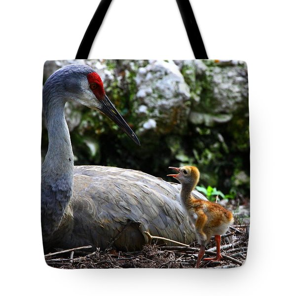 Mother Listening Tote Bag
