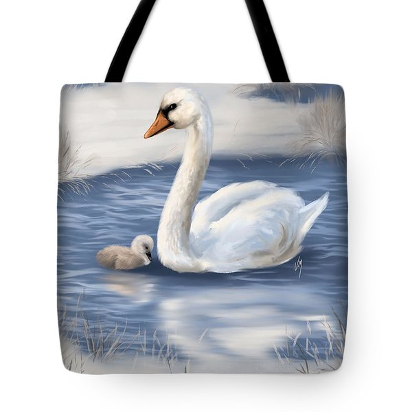 Tote Bag featuring the painting Mother Love by Veronica Minozzi