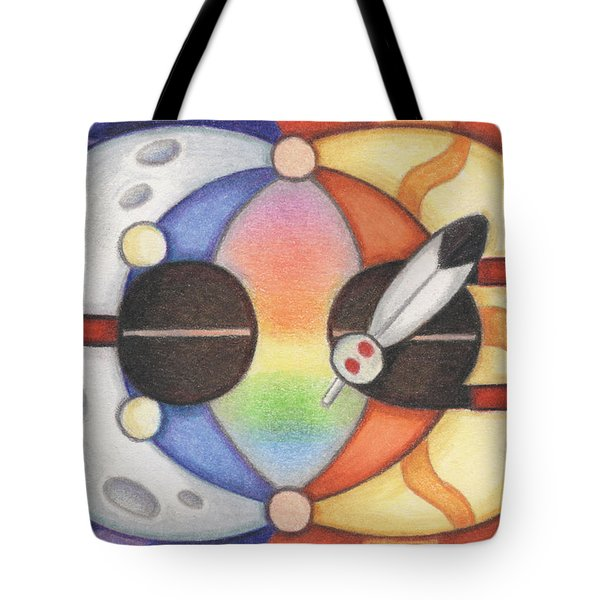 Mother Moon  Father Sun Tote Bag by Amy S Turner