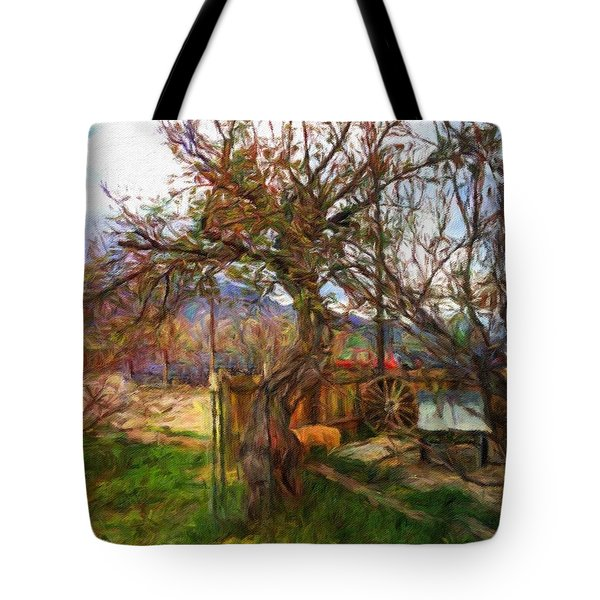 Mother Nature Twirls Tote Bag by Teri Brown