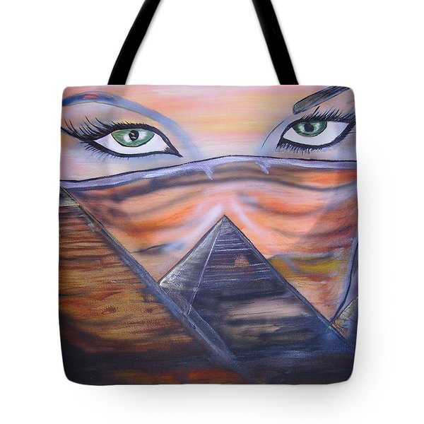 Tote Bag featuring the painting Mother Of Death by Tbone Oliver