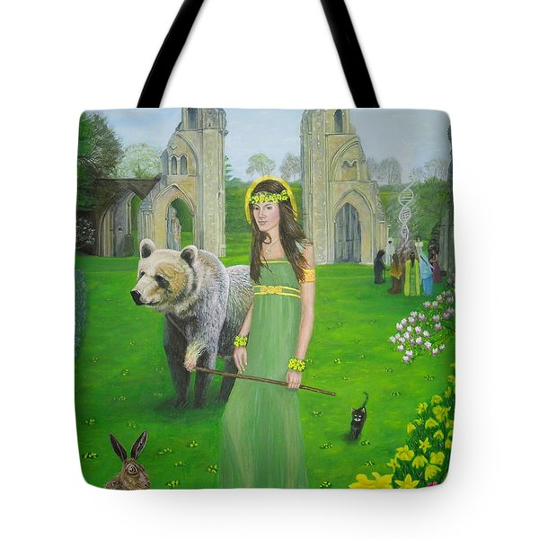 Mother Of Fire Goddess Artha - Spring Equinox Tote Bag