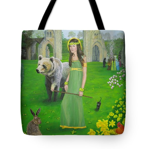 Mother Of Fire Goddess Artha - Spring Equinox Tote Bag