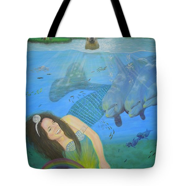 Mother Of Water Goddess Domnu - Summer Solstice Tote Bag