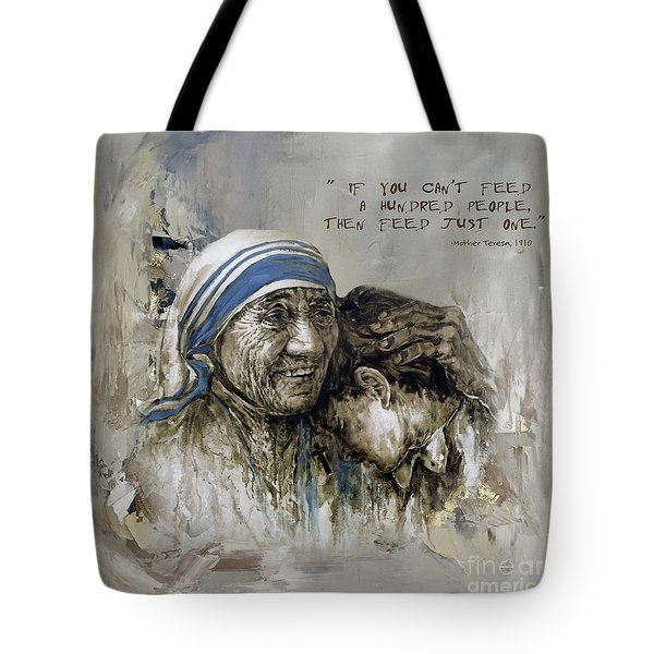 Mother Teresa Portrait  Tote Bag