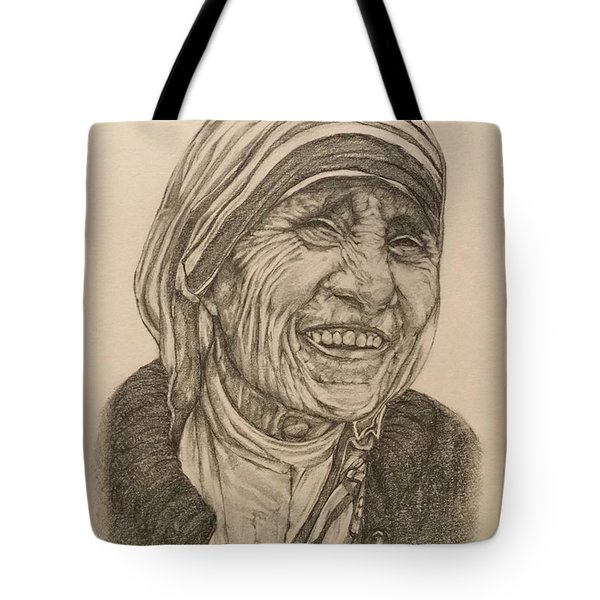 Mother Theresa Kindness Tote Bag by Kent Chua