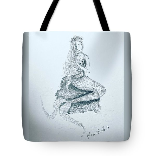 Motherhood Mermaid Tote Bag