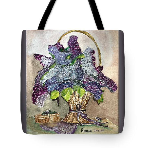 Mothers Day Lilacs Tote Bag