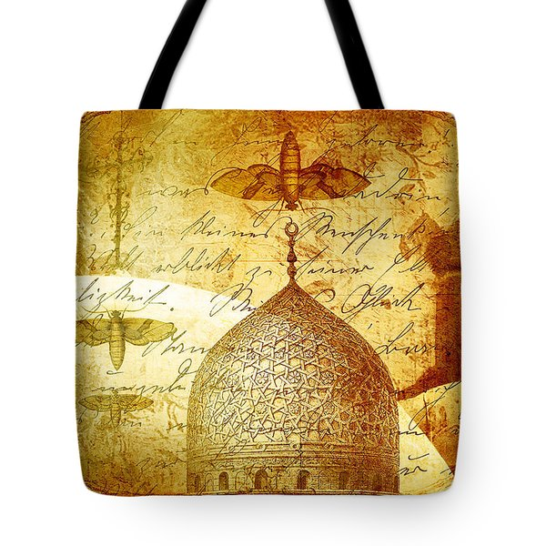 Moths And Mosques Tote Bag by Tammy Wetzel