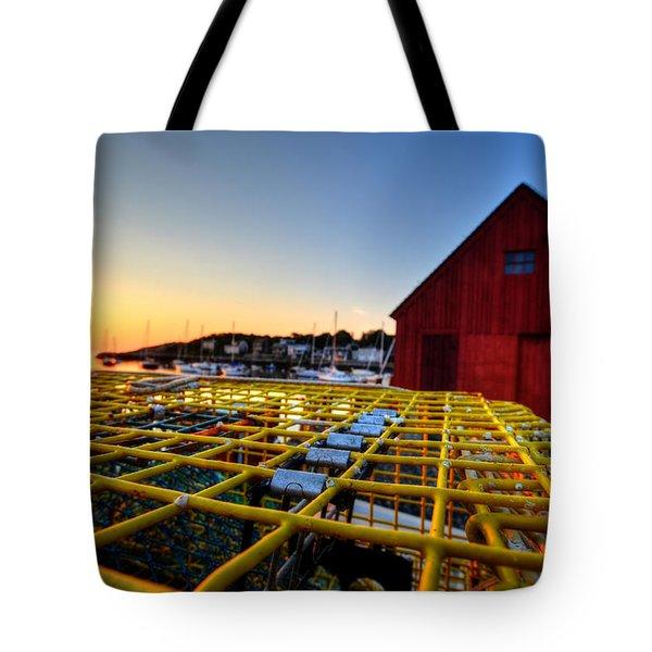 Motif 1 Lobster Trap Sunrise Tote Bag