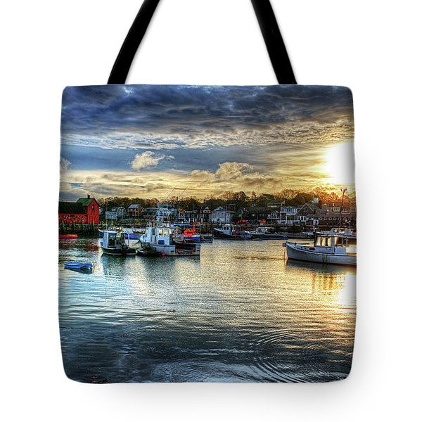 Motif #1 Sunrise Rockport Ma Tote Bag