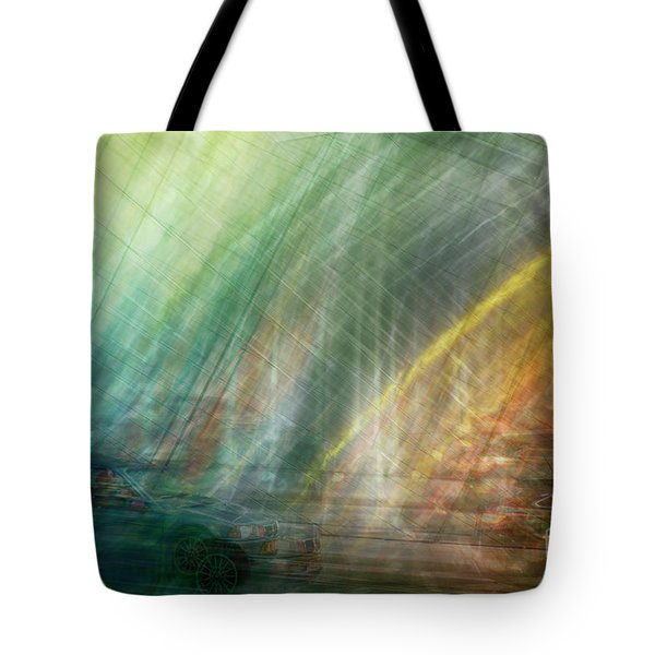 Tote Bag featuring the photograph motion in Dublin street by Ariadna De Raadt