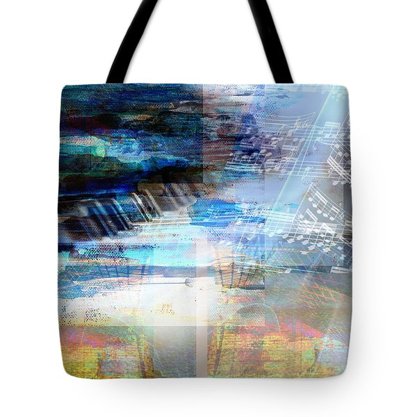 Tote Bag featuring the digital art Motivational Piano by Art Di