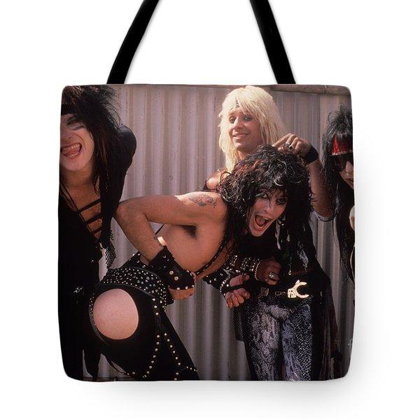Motley Crue Tote Bag by David Plastik
