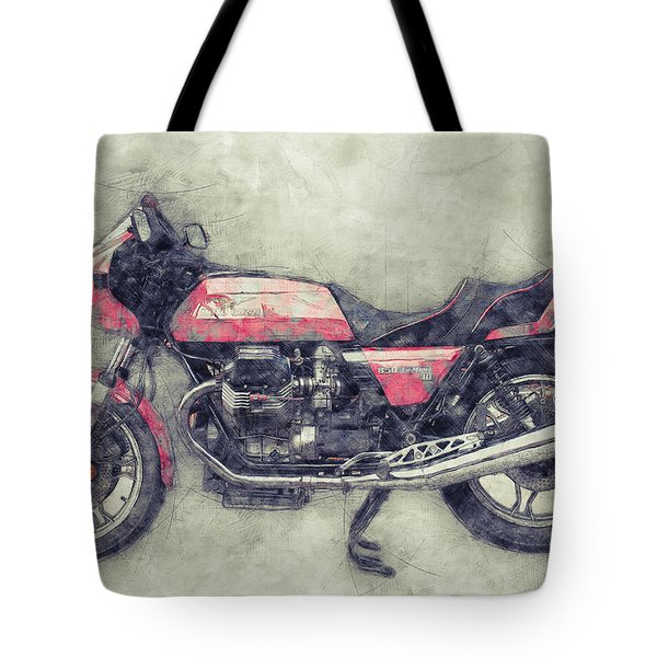 Moto Guzzi Le Mans 1 - Sports Bike - 1976 - Motorcycle Poster - Automotive Art Tote Bag