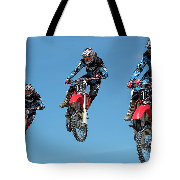 Motocross Riders Tote Bag