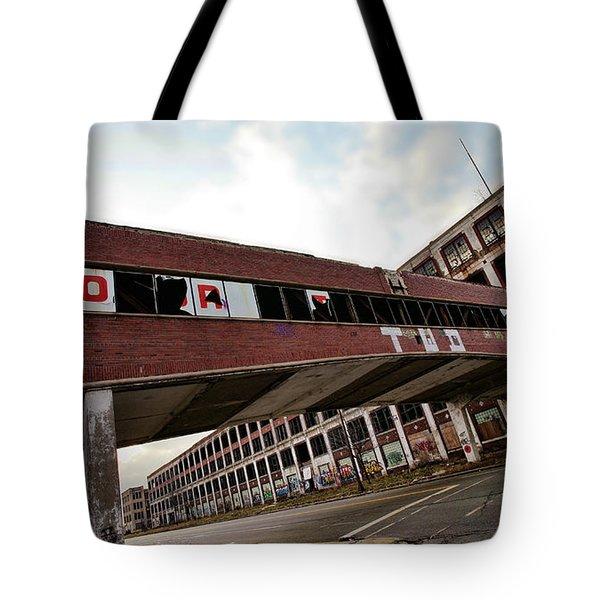 Motor City Industrial Park The Detroit Packard Plant Tote Bag by Gordon Dean II